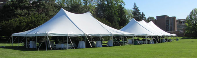 Tent rentals in Haslett, Okemos, East Lansing and Greater Lansing