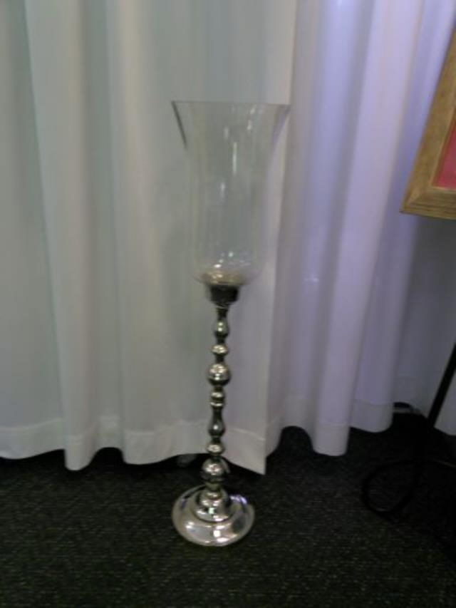 Where to rent 31  Silver Candle Stick W Hurricane in Haslett, Okemos, East Lansing and Greater Lansing