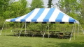 Rental store for Canopy 20x30 Blue White Stripe in Lansing MI