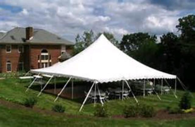 Where to rent Tent, 40  X 40  White Elite Stake Pole in Haslett, Okemos, East Lansing and Greater Lansing