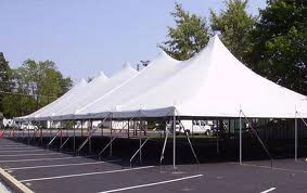 Where to rent Tent, 40  X 120  White Elite Stake Pole in Haslett, Okemos, East Lansing and Greater Lansing