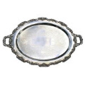 Rental store for 25  Oval Silver Platter in Lansing MI