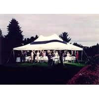Where to rent Tent 20  X 30  Black Stripe Stake Pole in Haslett, Okemos, East Lansing and Greater Lansing