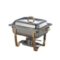 Rental store for Chafer, 4QT Square w Gold Trim in Lansing MI