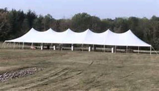 Where to rent Tent, 40  X 140  White Elite Stake Pole in Haslett, Okemos, East Lansing and Greater Lansing