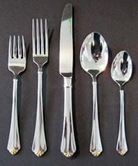 Where to rent Flatware, Gold Julliard Knife in Haslett, Okemos, East Lansing and Greater Lansing