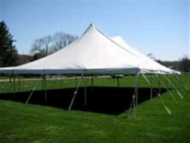Where to rent Tent, 40  X 60  White Elite Stake Pole in Haslett, Okemos, East Lansing and Greater Lansing