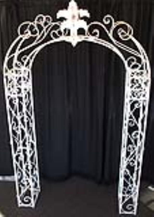 Where to rent Arch,Wrought Iron Antique White in Haslett, Okemos, East Lansing and Greater Lansing