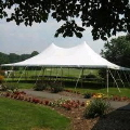 Rental store for Tent, 30  X 45  White Elite Stake Pole in Lansing MI