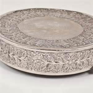 Where to rent Cake Stand 22  Silver in Haslett, Okemos, East Lansing and Greater Lansing