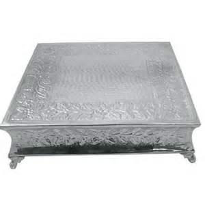 Where to rent Cake Stand 14  Square Silver in Haslett, Okemos, East Lansing and Greater Lansing