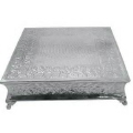 Rental store for Cake Stand 22  Square Silver in Lansing MI