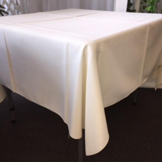Where to rent 70  Square White Linen in Haslett, Okemos, East Lansing and Greater Lansing