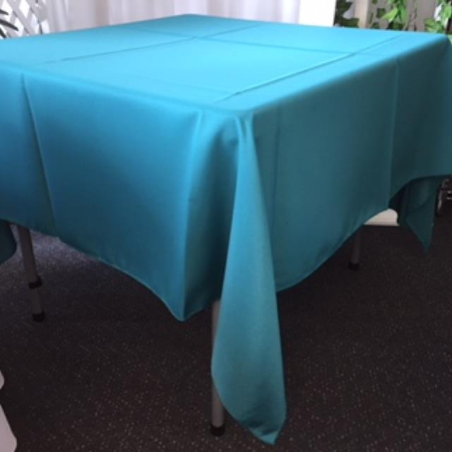 Where to rent 70  Square Teal Linen in Haslett, Okemos, East Lansing and Greater Lansing