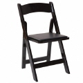 Rental store for Chair, Black Wood Padded INDOOR USE in Lansing MI