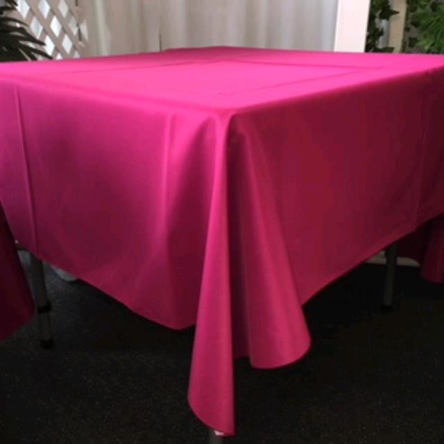 Where to rent 70  Square Raspberry Linen in Haslett, Okemos, East Lansing and Greater Lansing