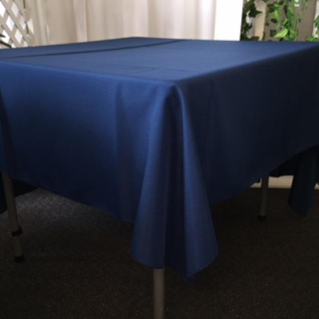 Where to rent 70  Square Navy Linen in Haslett, Okemos, East Lansing and Greater Lansing