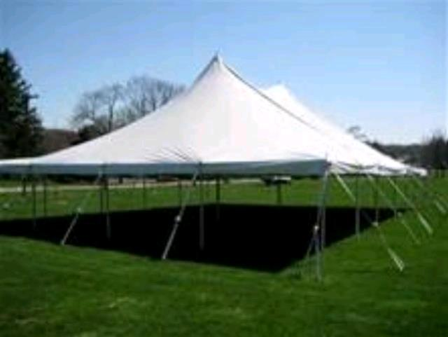 Where to rent Tent, 40  X 60  Aztec Stake   Pole White in Haslett, Okemos, East Lansing and Greater Lansing