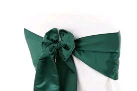 Where to rent Chair Sash, Hunter Green 6  Satin in Haslett, Okemos, East Lansing and Greater Lansing