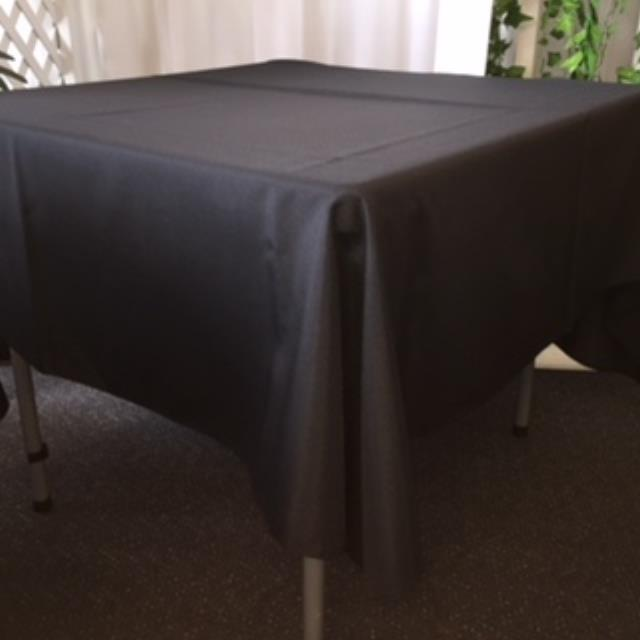 Where to rent 70  Square Black Linen in Haslett, Okemos, East Lansing and Greater Lansing