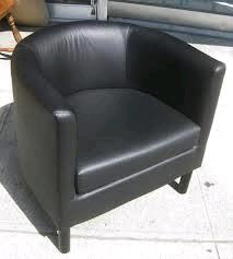 Where to rent Leather Barrel Chair in Haslett, Okemos, East Lansing and Greater Lansing