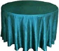 Rental store for 117  RD Turquoise Crinkle Satin Linen in Lansing MI