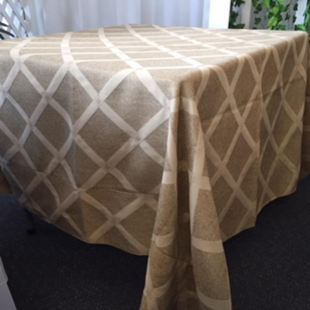 Where to rent 72  Square Sedona Wheat Linen in Haslett, Okemos, East Lansing and Greater Lansing