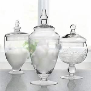 Where to rent Glass Apothecary Jars w Lids Set of 3 in Haslett, Okemos, East Lansing and Greater Lansing