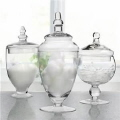 Rental store for Glass Apothecary Jars w Lids Set of 3 in Lansing MI