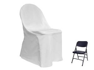Where to rent Chair Cover, White Folding in Haslett, Okemos, East Lansing and Greater Lansing