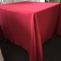 Rental store for 72  Square Brick Red Linen in Lansing MI