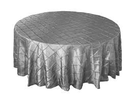 Where to rent 120  Round Satin Platinum Pintuck Linen in Haslett, Okemos, East Lansing and Greater Lansing