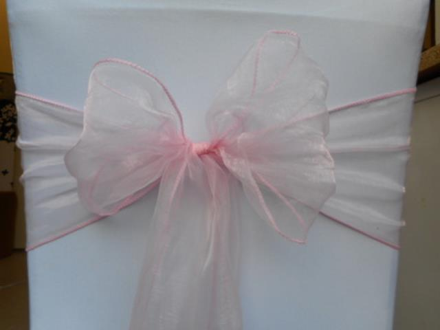 Where to rent Chair Sash, Pink Organza 6 in Haslett, Okemos, East Lansing and Greater Lansing
