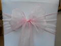 Rental store for Chair Sash, Pink Organza 6 in Lansing MI
