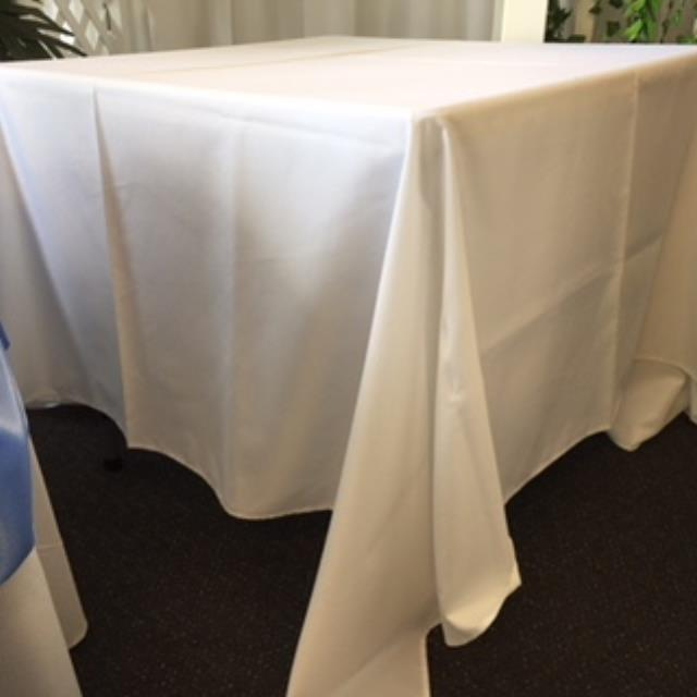 Where to rent 90  Square White Linen in Haslett, Okemos, East Lansing and Greater Lansing