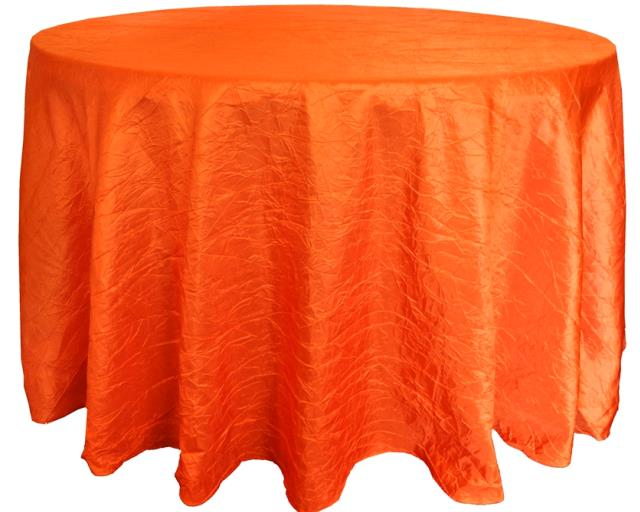 Where to rent 117  RD Orange Crinkle Satin Linen in Haslett, Okemos, East Lansing and Greater Lansing