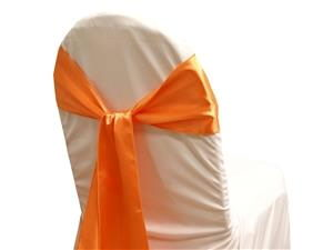 Where to rent Chair Sash, Orange Satin 6  Wide in Haslett, Okemos, East Lansing and Greater Lansing