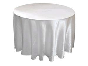Where to rent 120  Round White Satin Linen in Haslett, Okemos, East Lansing and Greater Lansing