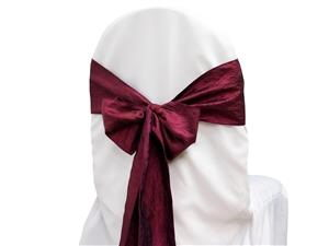 Where to rent Chair Sash, Burgundy Crinkle Satin 6  W in Haslett, Okemos, East Lansing and Greater Lansing