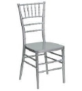 Rental store for Chair, Silver Chiavari Resin INDOOR USE in Lansing MI