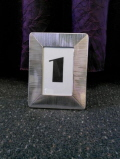 Rental store for Silver Frame Table Number in Lansing MI