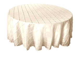 Where to rent 120  Round Ivory Pintuck Linen in Haslett, Okemos, East Lansing and Greater Lansing
