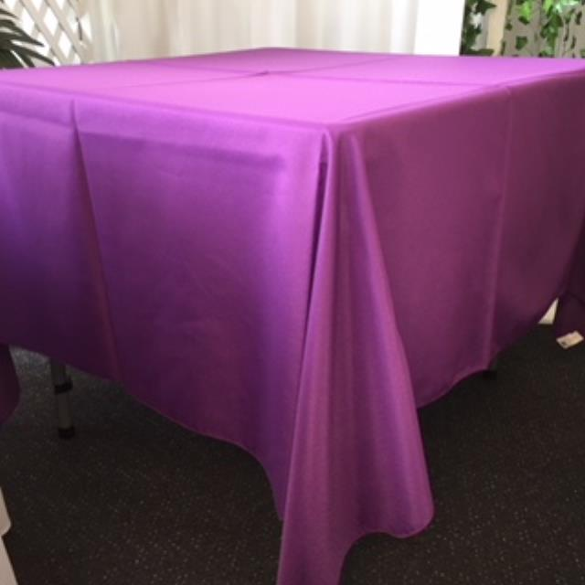 Where to rent 72  Square Plum Linen in Haslett, Okemos, East Lansing and Greater Lansing