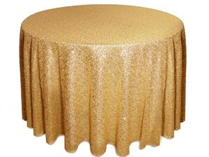 Where to rent 108  Round Gold Sequin Linen in Haslett, Okemos, East Lansing and Greater Lansing