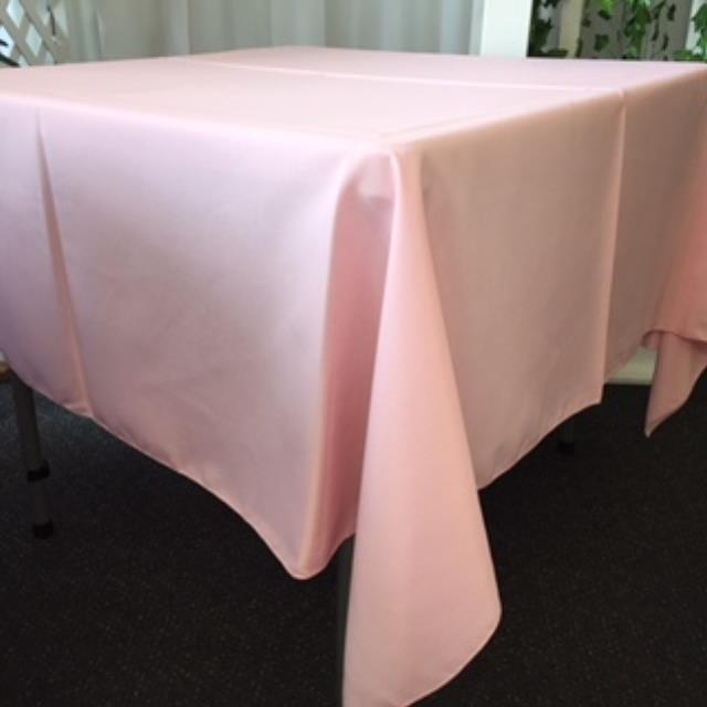 Where to rent 72  Square Pink Linen in Haslett, Okemos, East Lansing and Greater Lansing