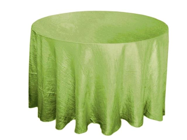 Where to rent 117  RD Apple Green Crinkle Satin Linen in Haslett, Okemos, East Lansing and Greater Lansing