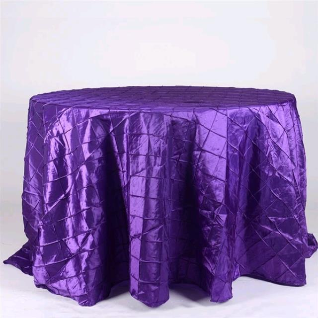 Where to rent 132  Round Purple Pintuck Linen in Haslett, Okemos, East Lansing and Greater Lansing