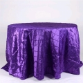 Rental store for 132  Round Purple Pintuck Linen in Lansing MI
