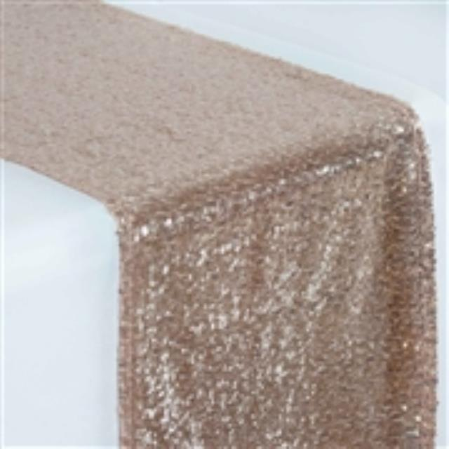 Where to rent Runner, Rose Gold Sequin 12  x 104 in Haslett, Okemos, East Lansing and Greater Lansing
