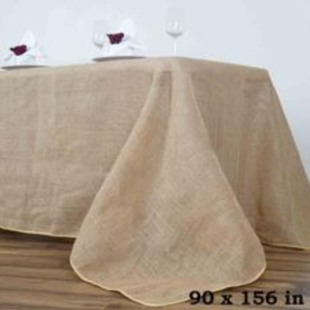 Where to rent 90 X156  Natural Burlap w Finished Edge in Haslett, Okemos, East Lansing and Greater Lansing